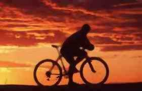 Bicyclist in Sunset